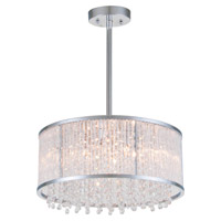DVI Lighting Sparxx 6 Light Pendant in Chrome with Clear Crystals DVP8513CH-CRY