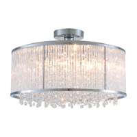 DVI Lighting Sparxx 6 Light Semi Flush Mount in Chrome with Clear Crystals DVP8517CH-CRY