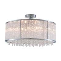 DVI Lighting Sparxx 6 Light Semi Flush Mount in Chrome with Clear Crystals DVP8518CH-CRY