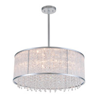 DVI Lighting Sparxx 6 Light Pendant in Chrome with Clear Crystals DVP8520CH-CRY