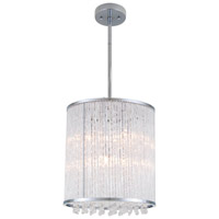 DVI Lighting Sparxx 6 Light Foyer Pendant in Chrome with Clear Crystals DVP8547CH-CRY