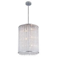 DVI Lighting Sparxx 9 Light Foyer Pendant in Chrome with Clear Crystals DVP8548CH-CRY