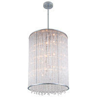 DVI Lighting Sparxx 12 Light Foyer Pendant in Chrome with Clear Crystals DVP8549CH-CRY
