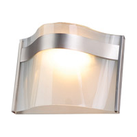 DVI Lighting Abyss 1 Light Wall Sconce in Buffed Nickel with Vodka Ice Glass DVP8901BN-VICE