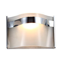 DVI Lighting Abyss 1 Light Wall Sconce in Chrome with Vodka Ice Glass DVP8901CH-VICE
