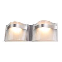 DVI Lighting Abyss 2 Light Bathroom Vanity in Buffed Nickel with Vodka Ice Glass DVP8922BN-VICE