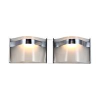 DVI Lighting Abyss 2 Light Bathroom Vanity in Chrome with Vodka Ice Glass DVP8922CH-VICE
