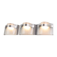 DVI Lighting Abyss 3 Light Bathroom Vanity in Buffed Nickel with Vodka Ice Glass DVP8943BN-VICE