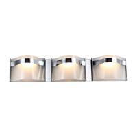 DVI Lighting Abyss 3 Light Bathroom Vanity in Chrome with Vodka Ice Glass DVP8943CH-VICE