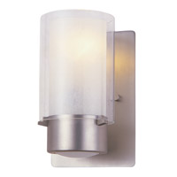 DVI Lighting Essex 1 Light Wall Sconce in Buffed Nickel with Half Opal Glass DVP9001BN-OP