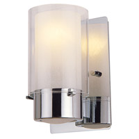 DVI Lighting Essex 1 Light Wall Sconce in Chrome with Half Opal Glass DVP9001CH-OP