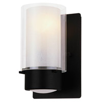 DVI Lighting Essex 1 Light Wall Sconce in Graphite with Half Opal Glass DVP9001GR-OP