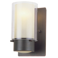 DVI Lighting Essex 1 Light Wall Sconce in Oil Rubbed Bronze with Butterscotch Glass DVP9001ORB-BS