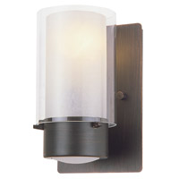 DVI Lighting Essex 1 Light Wall Sconce in Oil Rubbed Bronze with Half Opal Glass DVP9001ORB-OP