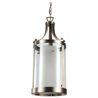 DVI Lighting Essex 2 Light Pendant in Buffed Nickel with Half Opal Glass DVP9011BN-OP