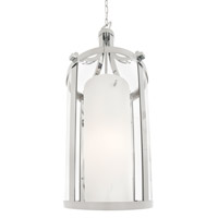 DVI Lighting Essex 2 Light Pendant in Chrome with Half Opal Glass DVP9011CH-OP