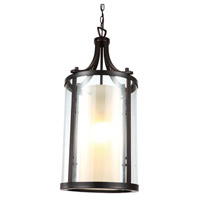 DVI Lighting Essex 2 Light Pendant in Oil Rubbed Bronze with Butterscotch Glass DVP9011ORB-BS