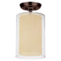 DVI Lighting Essex 1 Light Semi Flush Mount in Oil Rubbed Bronze with Butterscotch Glass DVP9012ORB-BS
