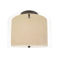 DVI Lighting Essex 2 Light Semi Flush Mount in Oil Rubbed Bronze with Butterscotch Glass DVP9013ORB-BS