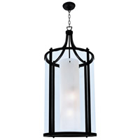 DVI Lighting Essex 4 Light Foyer Pendant in Graphite with Half Opal Glass DVP9014GR-OP