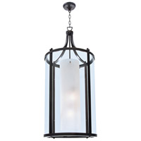 DVI Lighting Essex 4 Light Foyer Pendant in Oil Rubbed Bronze with Half Opal Glass DVP9014ORB-OP