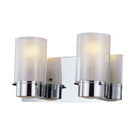 DVI Lighting Essex 2 Light Bathroom Vanity in Chrome with Half Opal Glass DVP9022CH-OP