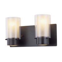 DVI Lighting Essex 2 Light Bathroom Vanity in Oil Rubbed Bronze with Butterscotch Glass DVP9022ORB-BS