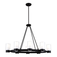 DVI Lighting Essex 8 Light Chandelier in Buffed Nickel with Half Opal Glass DVP9028GR-OP