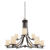 DVI Lighting Essex 9 Light Chandelier in Oil Rubbed Bronze with Butterscotch Glass DVP9029ORB-BS