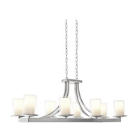 DVI Lighting Essex 8 Light Chandelier in Chrome with Half Opal Glass DVP9032CH-OP