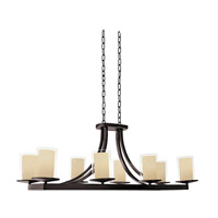 DVI Lighting Essex 8 Light Chandelier in Oil Rubbed Bronze with Butterscotch Glass DVP9032ORB-BS
