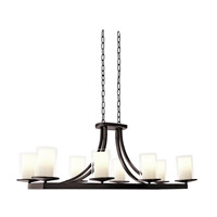 DVI Lighting Essex 8 Light Chandelier in Oil Rubbed Bronze with Half Opal Glass DVP9032ORB-OP