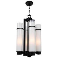 Essex 4 Light 16 inch Graphite Foyer Pendant Ceiling Light in Opal Glass