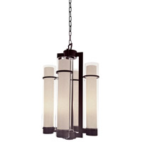 Essex 4 Light 16 inch Oil Rubbed Bronze Foyer Pendant Ceiling Light in Butterscotch Glass
