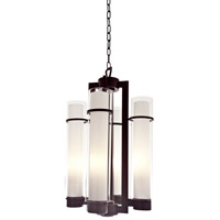 Essex 4 Light 16 inch Oil Rubbed Bronze Foyer Pendant Ceiling Light in Opal Glass