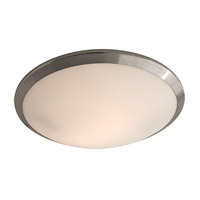 DVI Lighting Essex 2 Light Flush Mount in Buffed Nickel with Half Opal Glass DVP9040BN-OP