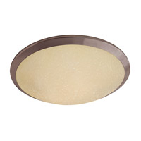 DVI Lighting Essex 2 Light Flush Mount in Oil Rubbed Bronze with Butterscotch Glass DVP9040ORB-BS