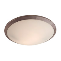 DVI Lighting Essex 2 Light Flush Mount in Oil Rubbed Bronze with Half Opal Glass DVP9040ORB-OP