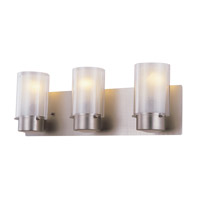 DVI Lighting Essex 3 Light Bathroom Vanity in Buffed Nickel with Half Opal Glass DVP9043BN-OP