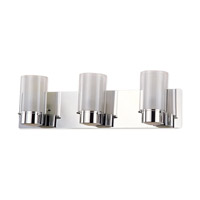 Essex 3 Light 21 inch Chrome Bathroom Vanity Wall Light in Opal Glass