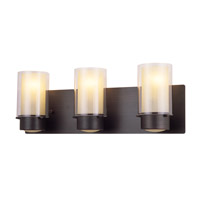 Essex 3 Light 21 inch Oil Rubbed Bronze Bathroom Vanity Wall Light in Butterscotch Glass
