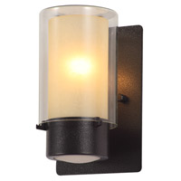 DVI Lighting Essex 1 Light Sconce in Hammered Black with Butterscotch Glass DVP9071HB-BS