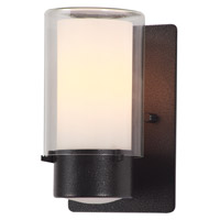 DVI Lighting Essex 1 Light Sconce in Hammered Black with Half Opal Glass DVP9071HB-OP