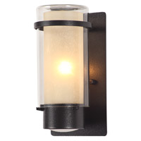 DVI Lighting Essex 1 Light Sconce in Hammered Black with Butterscotch Glass DVP9072HB-BS