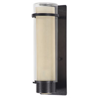 DVI Lighting Essex 1 Light Sconce in Hammered Black with Butterscotch Glass DVP9073HB-BS
