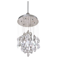 DVI Lighting Borealis 7 Light Pendant in Chrome with Clear Optic Glass DVP9912CH-CRY