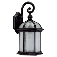Hexagon 1 Light 16 inch Black Outdoor Wall Sconce