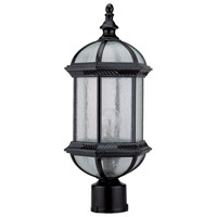 Hexagon 1 Light 18 inch Black Post Top