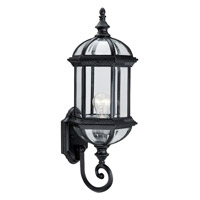 Hexagon 1 Light 21 inch Black Outdoor Wall Sconce