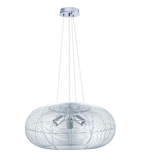 hanu 3 light 22 inch aluminum chrome pendant ceiling light